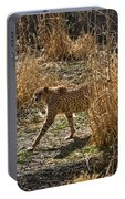 Cheetah  In The Brush Portable Battery Charger