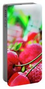 Cherries And Berries Portable Battery Charger