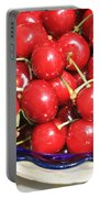 Cherries In A Bowl Close-up Portable Battery Charger