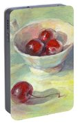 Cherries In A Cup On A Sunny Day Painting Portable Battery Charger