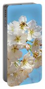 Cherry Blossom And A Bee Portable Battery Charger