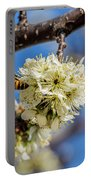 Pear Blossom And Bee Portable Battery Charger