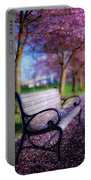 Cherry Blossom Bench Portable Battery Charger