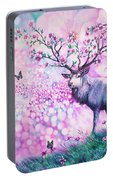 Cherry Blossom Deer Portable Battery Charger