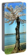 Cherry Blossom Portrait Portable Battery Charger