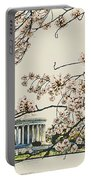 Cherry Blossom Tidalbasin View Portable Battery Charger