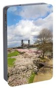 Cherry Blossom Trees At Portland Waterfront Portable Battery Charger