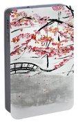 Cherry Blossoms And Bridge II Meadowlark Botanic Gardens 201729  Portable Battery Charger