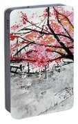 Cherry Blossoms And Bridge Meadowlark Botanical Gardens 201728 Portable Battery Charger