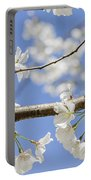 Cherry Blossoms And Bumblebee Portable Battery Charger