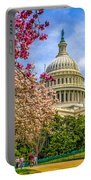 Cherry Blossoms At The Capitol Portable Battery Charger