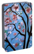 Cherry Blossoms In Bloom Portable Battery Charger