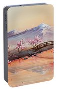 Cherry Blossoms In The Mist - Revisited Portable Battery Charger