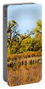 Cherry Creek Pond In Autumn Portable Battery Charger