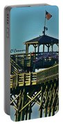 Cherry Grove Pier - Closeup End Of Pier Portable Battery Charger