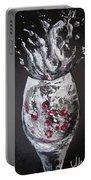 Cherry Splash Portable Battery Charger