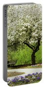 Cherry Tree In Full Bloom Portable Battery Charger