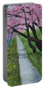 Cherry Trees- Pink Blossoms- Landscape Painting Portable Battery Charger