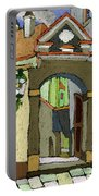 Chesky Krumlov Old Street Latran  Portable Battery Charger