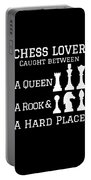 Chess Lover Between A Queen Rook Hard Place Chess Pieces Portable Battery Charger