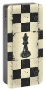 Chess Pieces Portable Battery Charger by Debbie DeWitt