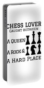Chess Player Gift Between A Queen Rook Hard Place Chess Lover Portable Battery Charger