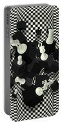 Chessboard And 3d Chess Pieces Composition Portable Battery Charger