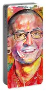 Chester Bennington Watercolor Portable Battery Charger