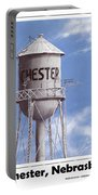 Chester Water Tower Poster Portable Battery Charger