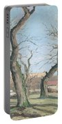 Chestnut Trees At Louveciennes Portable Battery Charger by Camille Pissarro