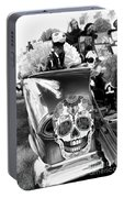 Chevy Decor Day Of Dead Bw Portable Battery Charger