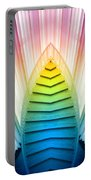 Chicago Art Institute Staircase Pa Prism Mirror Image Vertical 02 Portable Battery Charger