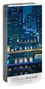 Chicago Bridges Poster Portable Battery Charger