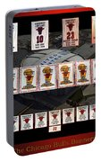 Chicago Bulls Banners Collage Portable Battery Charger