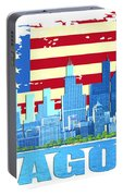 Chicago City Skyline Portable Battery Charger