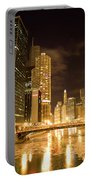 Chicago Downtown City  Night Photography Portable Battery Charger