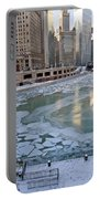 Chicago Downtown City  Night Photography Wrigley Square Portable Battery Charger