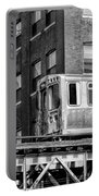 Chicago El And Warehouse Black And White Portable Battery Charger