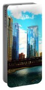 Chicago Fall Portable Battery Charger