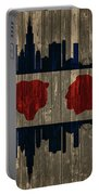 Chicago Flag Barn Door Portable Battery Charger