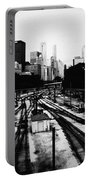 Chicago Grant Park Railroad Skyline Portable Battery Charger