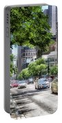 Chicago Hailing A Cab In June Portable Battery Charger