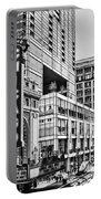 Chicago In Black And White Portable Battery Charger