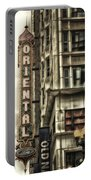 Chicago In November Oriental Theater Signage Vertical Portable Battery Charger