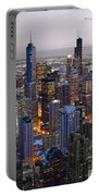 Chicago Loop Sundown Bw Color Blend Portable Battery Charger