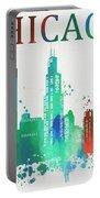 Chicago Paint Splatter Portable Battery Charger