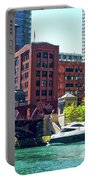 Chicago Parked By The Clark Street Bridge On The River Portable Battery Charger