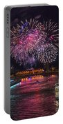 Chicago River Fireworks Portable Battery Charger