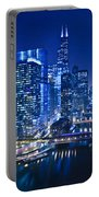 Chicago River Panorama Portable Battery Charger