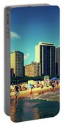 Chicago Summer Skyline At Oak Street Beach Portable Battery Charger